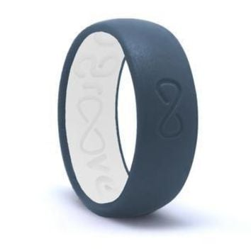 GROOVE ORIGINAL SILICONE RING - ANCHOR WHITE