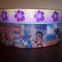 Small round Lilo & Stitch Keepsake Trinket box