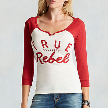 HAND PICKED TRUE RELIGION REBEL WOMENS TEE