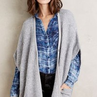 Sita Murt Ribbed Sweater Cape in Grey Size: One Size Sweaters