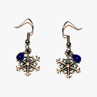 Snowflake Earrings, Christmas Jewelry, Holiday Earrings, Snowflakes, Winter Jewelry
