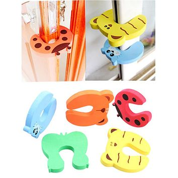 4pcs Baby Safety Products Cartoon Animal Stop Edge Corner for Children Guards Door Stopper Holder Protection from Children Child