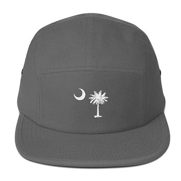 South Carolina Palmetto Moon Embroidered Five Panel Cap