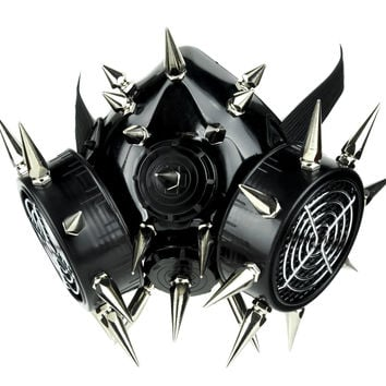 Cyber Respirator Gas Mask with 23 Large and Small Spikes