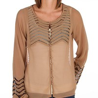 BKE Boutique Chiffon Shirt - Women's Shirts/Tops | Buckle