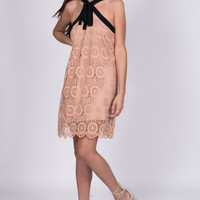Malia Crochet Dress With Tie Detail