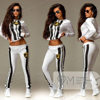 New Fashion Women Tracksuits Hoodie Set Joggers Pullover Sudaderas Chandal Casual Costumes Moletom 2 Piece Sweatshirt+Pants