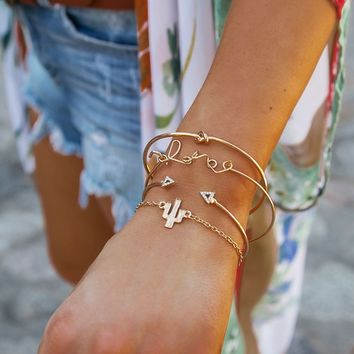 Breezy Days Gold Bracelet Set