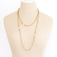80's__Vintage__Rope Pearl Necklace