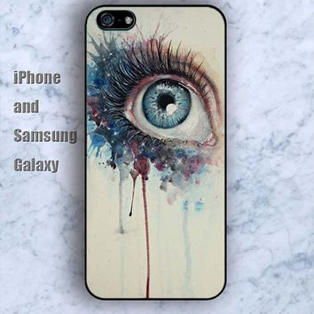 eyes watercolor best iPhone 5/5S case Ipod Silicone plastic Phone cover Waterproof
