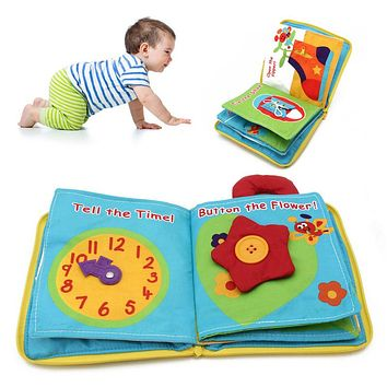 Baby Kids Intelligence development Cloth Bed Book Flower Educational Toy