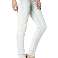 Simple Acid Wash Ankle Skinny Jeans