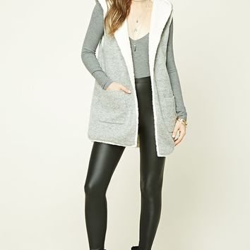 Faux Shearling-Lined Vest