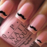 Movember 30 X Moustache Nail stickers