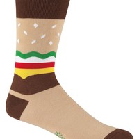 Men's Burger Socks - Crew Socks by Sock it To Me