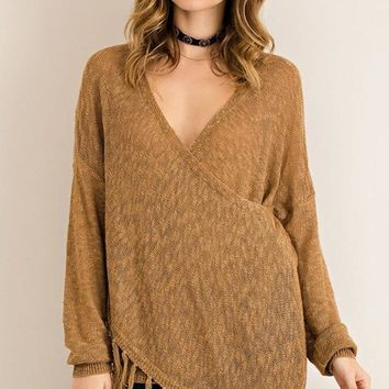 Bono Wrap Front Sweater [Two Colors]