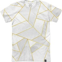 White Stone / Golden Lines Men's T-Shirts by Elisabeth Fredriksson | Nuvango