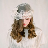 Vintage inspired lace bridal cap Style 117 Made to by myrakim