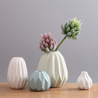Creative Vase Nordic Modern Living Room Coffee Table Soft Ornament Origami Ceramic Vase Ornaments FLOWER Inserting Device