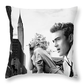 Marilyn Monroe And James Dean New York Iphone 6 Plus Cover Case 2014 Throw Pillow