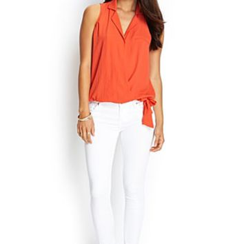 Contemporary Knotted Surplice Top