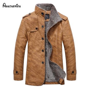 Free Shipping Winter PU Leather Jacket ,Parka Men,Warm Windbreak Waterproof  Casual Male Leather Coat Plus Size L-4XL 80