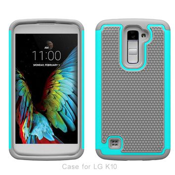 Dual Layer Impact Heavy Duty Rugged Hybrid Hard Case Cover for LG K10 Case Silicone Phone Cases