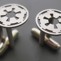 Steel Star Wars Imperial Insignia Cufflinks