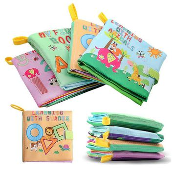 0-36 Months Baby Toys Soft Cloth Books Rustle Sound Infant Educational Stroller Rattle Toy Newborn Crib Bed Baby Toys