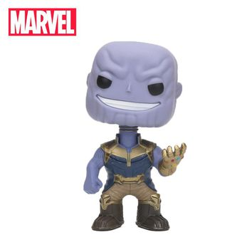 2018 10cm Marvel Toys the Avengers 3 INFINITY WAR Superhero Thanos PVC Action Figures Bobble Head Collectible Model Doll Toy