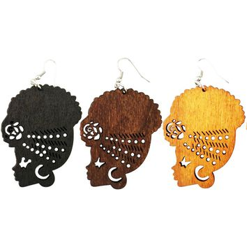 Headwrap Sista earrings | Natural hair earrings | Afrocentric earrings | jewelry | accessories