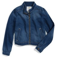 Girl's Tucker + Tate Denim Moto Jacket,