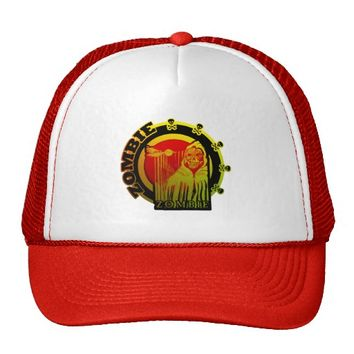Zombie in Cloak - Red Yellow Sunburst Trucker Hat