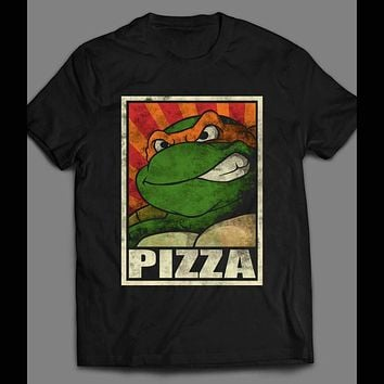 "TEENAGE MUTANT NINJA TURTLES ""MIKEY PIZZA"" ART SHIRT"