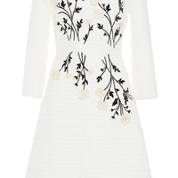 Daisy Embroidered Tweed Dress