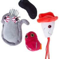 ZOMBIE ATTACK GIANT MICROBES PLUSH SET