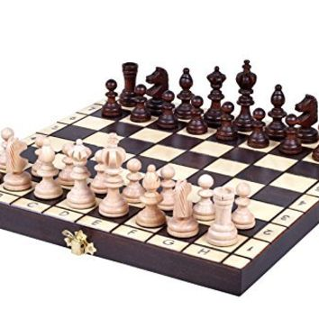 The Koliada - Unique Wood Chess Set, Pieces, Chess Board & Storage