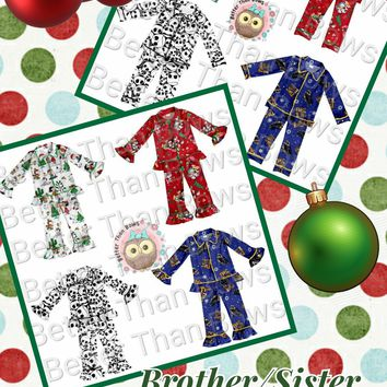 Brother/Sister Holiday Pajamas*Preorder- 0487*Closes: September 7th at 8pm