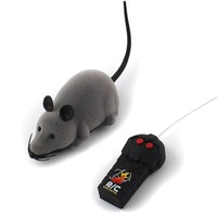 2018 Funny Pet Cat mice Toy Wireless RC Gray Rat Mice Toy Remote Control mouse For kids gift toys