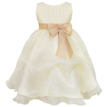 Girls Pageant Princess Bow Decoration Formal Dress Kids Wedding Bridesmaid Party Christening Dresses = 1932535492