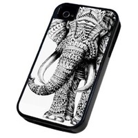 Cellbell Official License aztec Ornate elephant Design iphone 4 4S Defender/Builder Heavy Duty Case/Cover Shock Proof Cover
