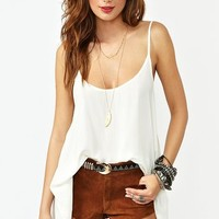 Abrielle Tank - Ivory in What's New at Nasty Gal