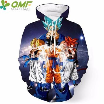 Goku Super Saiyan 3d Print Men Skateboarding Hoodies Jogging Sweatshirt Winter Fitness Hoody Dragon Ball Z Tracksuits Hooded