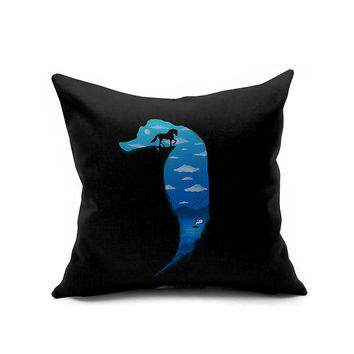 Decoration Sea Mediterranean Sea Animal Cushion Cover [6451638150]