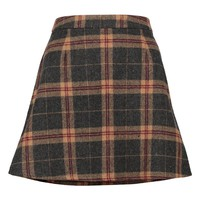 Amelle Woven Brushed Check A Line Mini