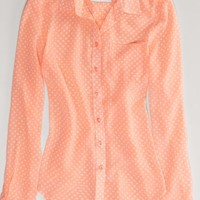 AEO Women's Sheer Chiffon Shirt