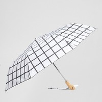 Original Duckhead White Grid Umbrella at asos.com