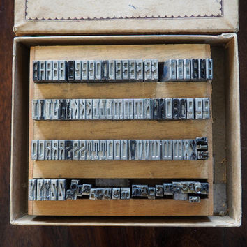 DURA CAST Type Vintage Letter Press Set for Franklin Hot Stamping Machine Style No. 3691