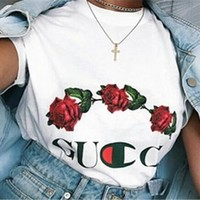 Gucci Rose White T-shirt