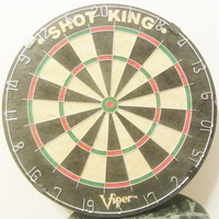 Shot King Viper Bristle Dart Board NEW Man Cave